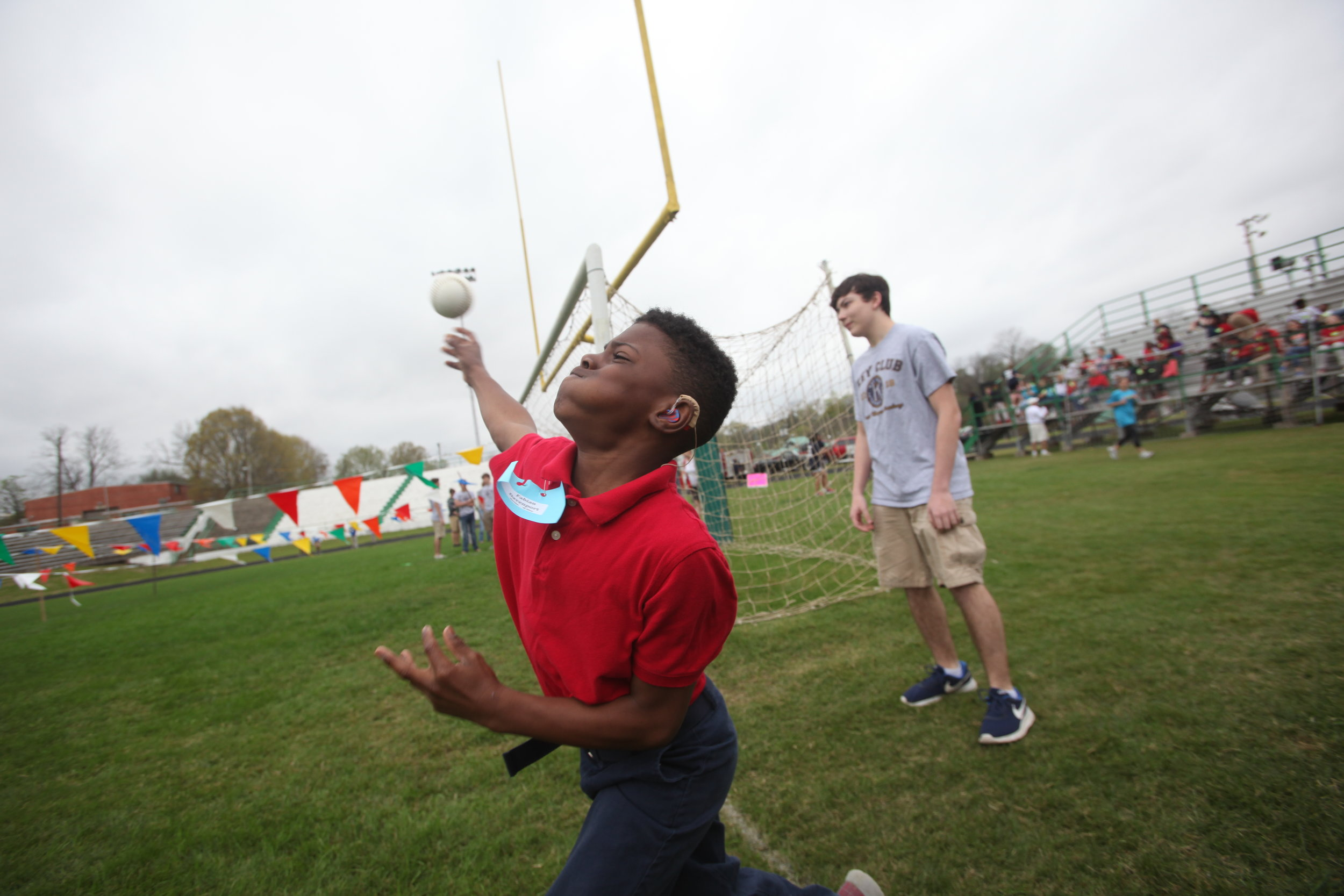 Fabian Davenport  throws during the softball toss event during the Area 10 Special Olympics at Vicksburg High School Tuesday. (Courtland Wells/The Vicksburg Post)