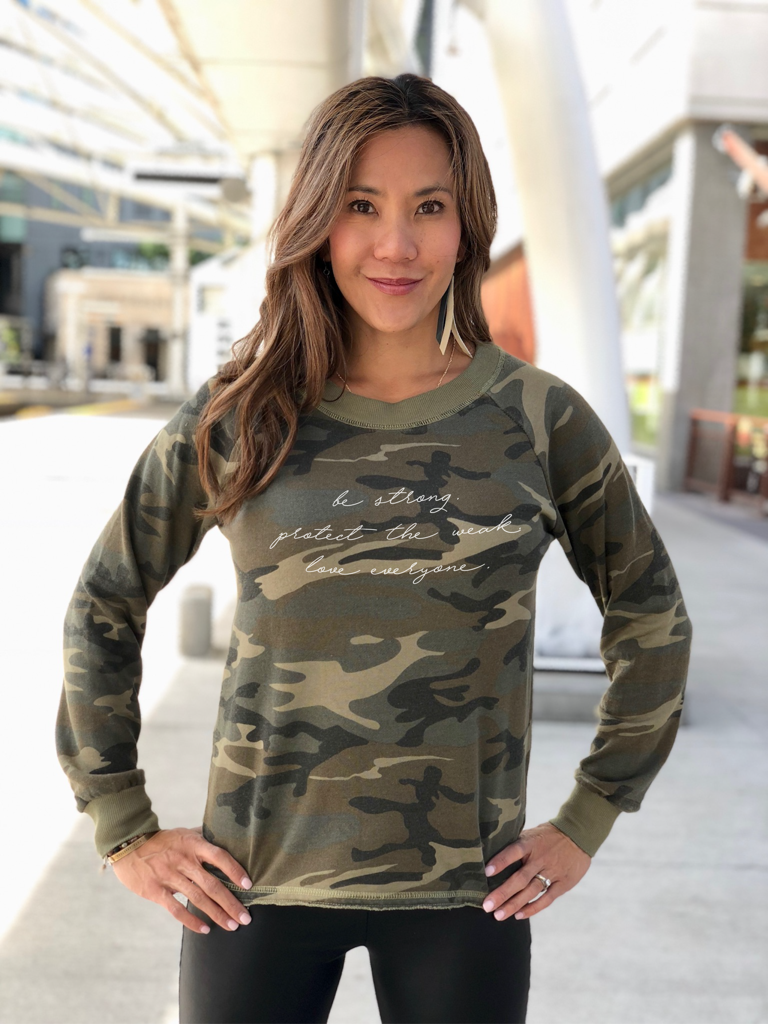 Camo lazy day pullover