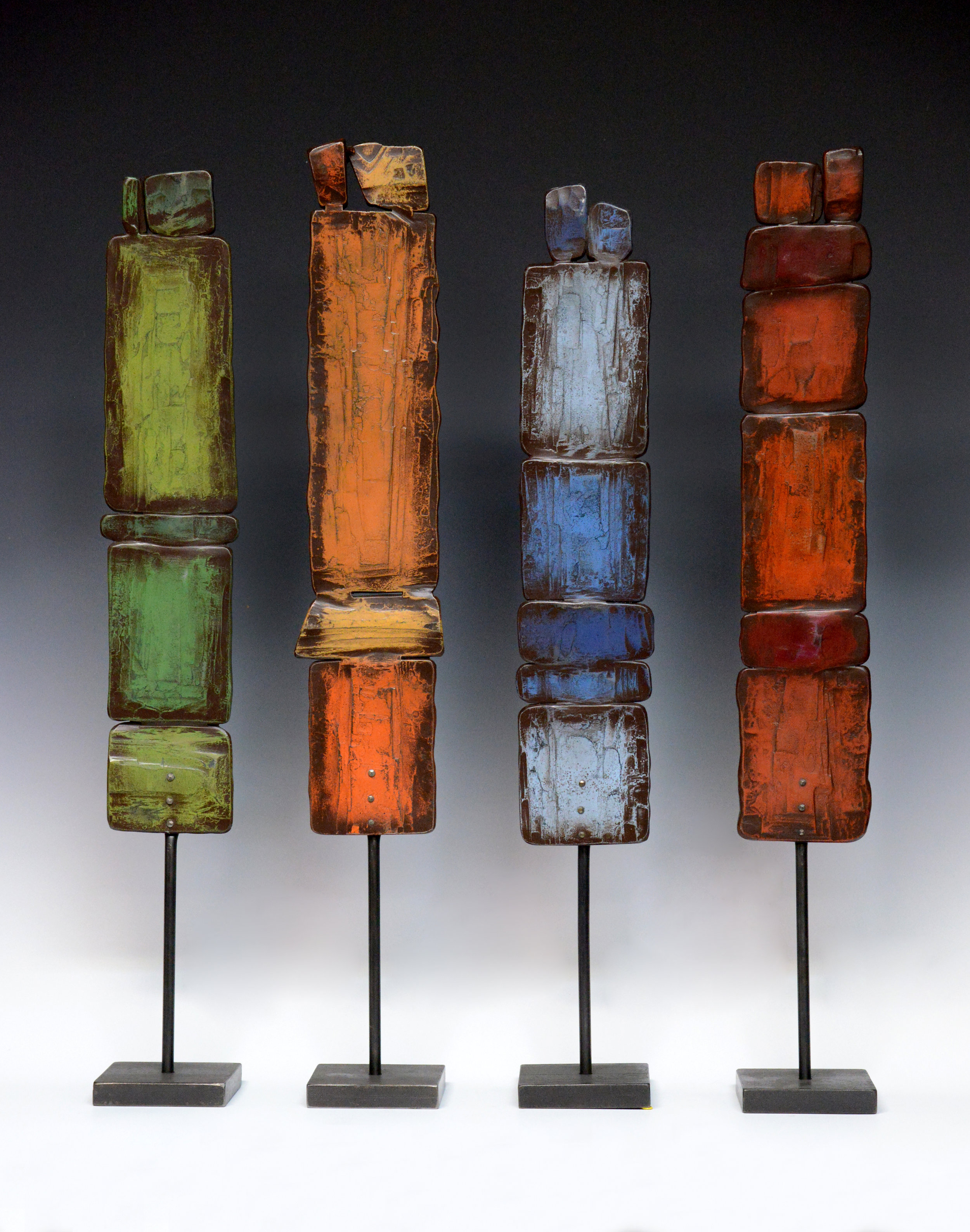 "Color Totems , 23"" x 4"" x 4"" base"