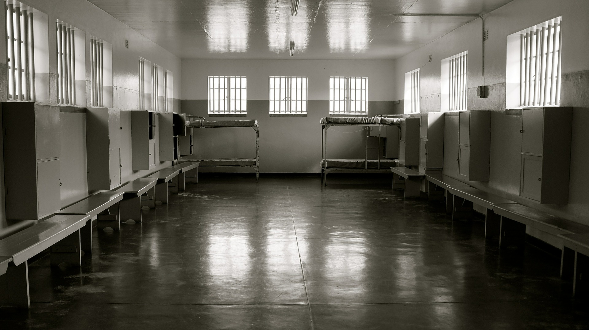 Mandela was in prison initially here at Robben island