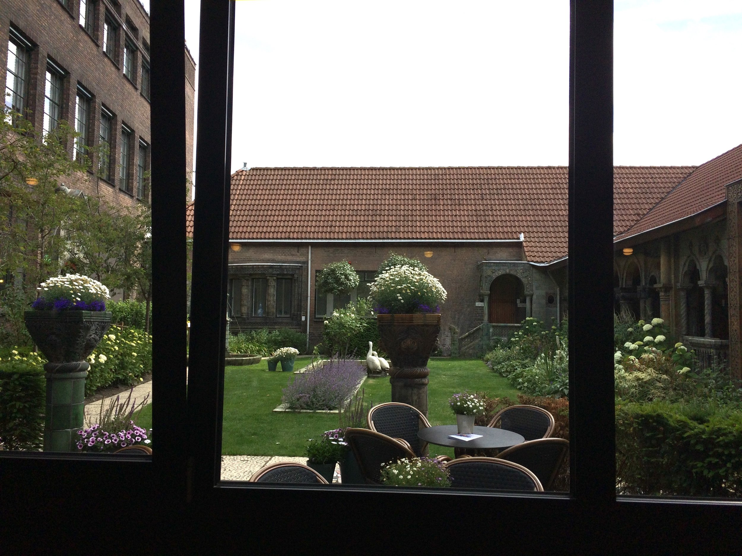 View from inside the Royal Delft Porcelain Factory, Delft, The Netherlands