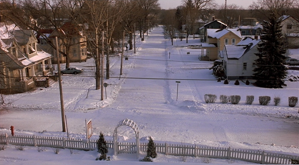 View from Bill's window on Ground Hog Day in Punxsutawney, Pennsylvania