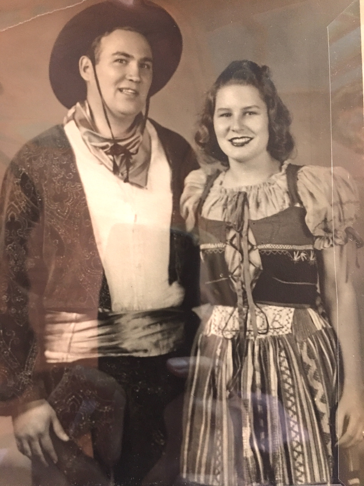 My parents in costume