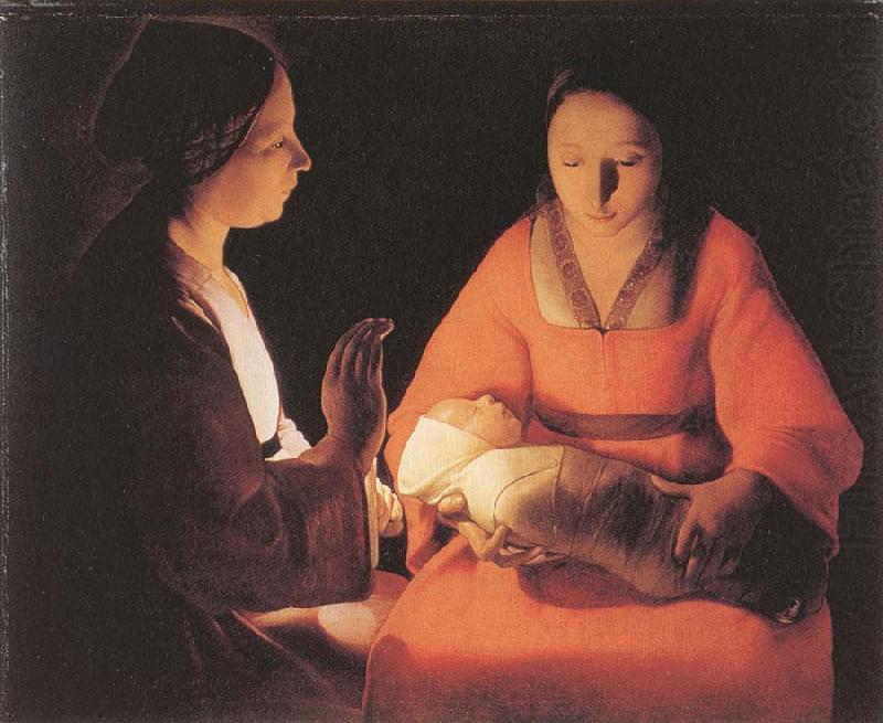 Georges de La Tour  The Newborn . Child  1645-1648 . Museum of Fine Arts of Rennes France