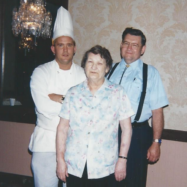 Dan with his Father and Grandmother