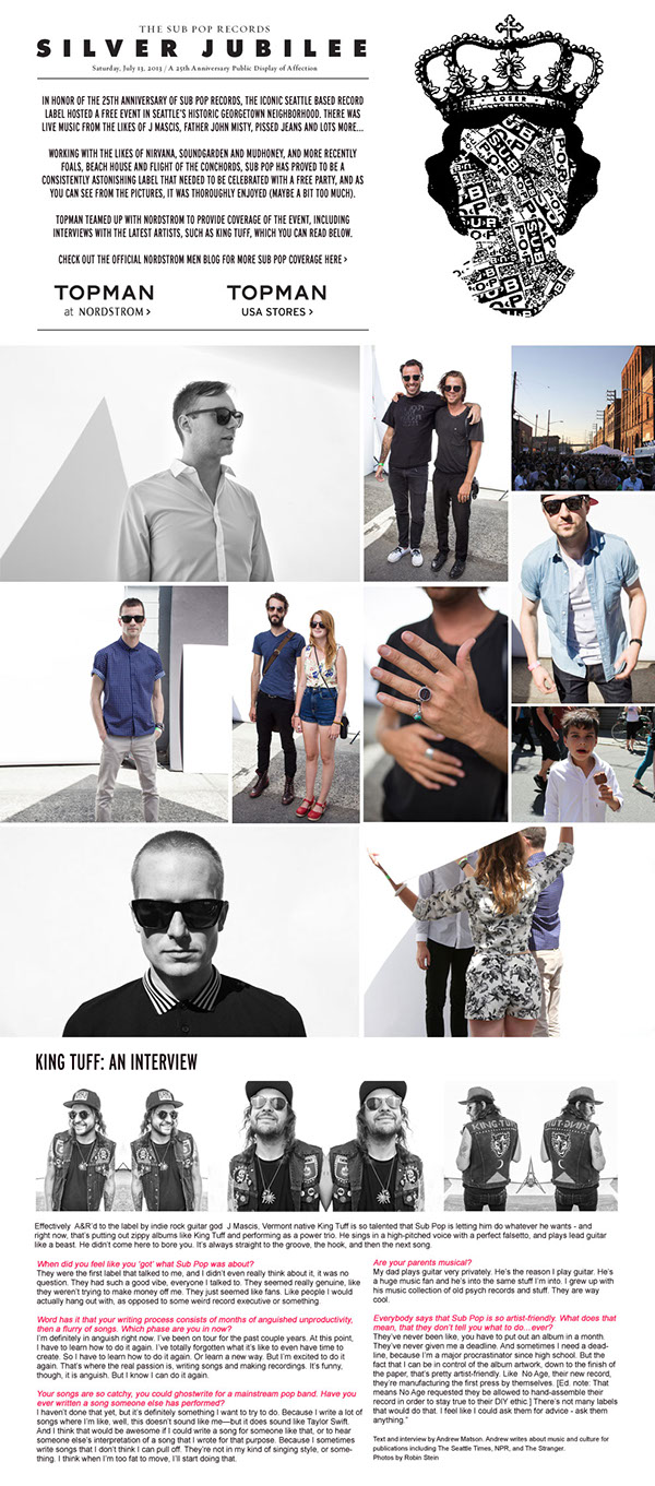 Topman x Sub Pop Records  |  click to view