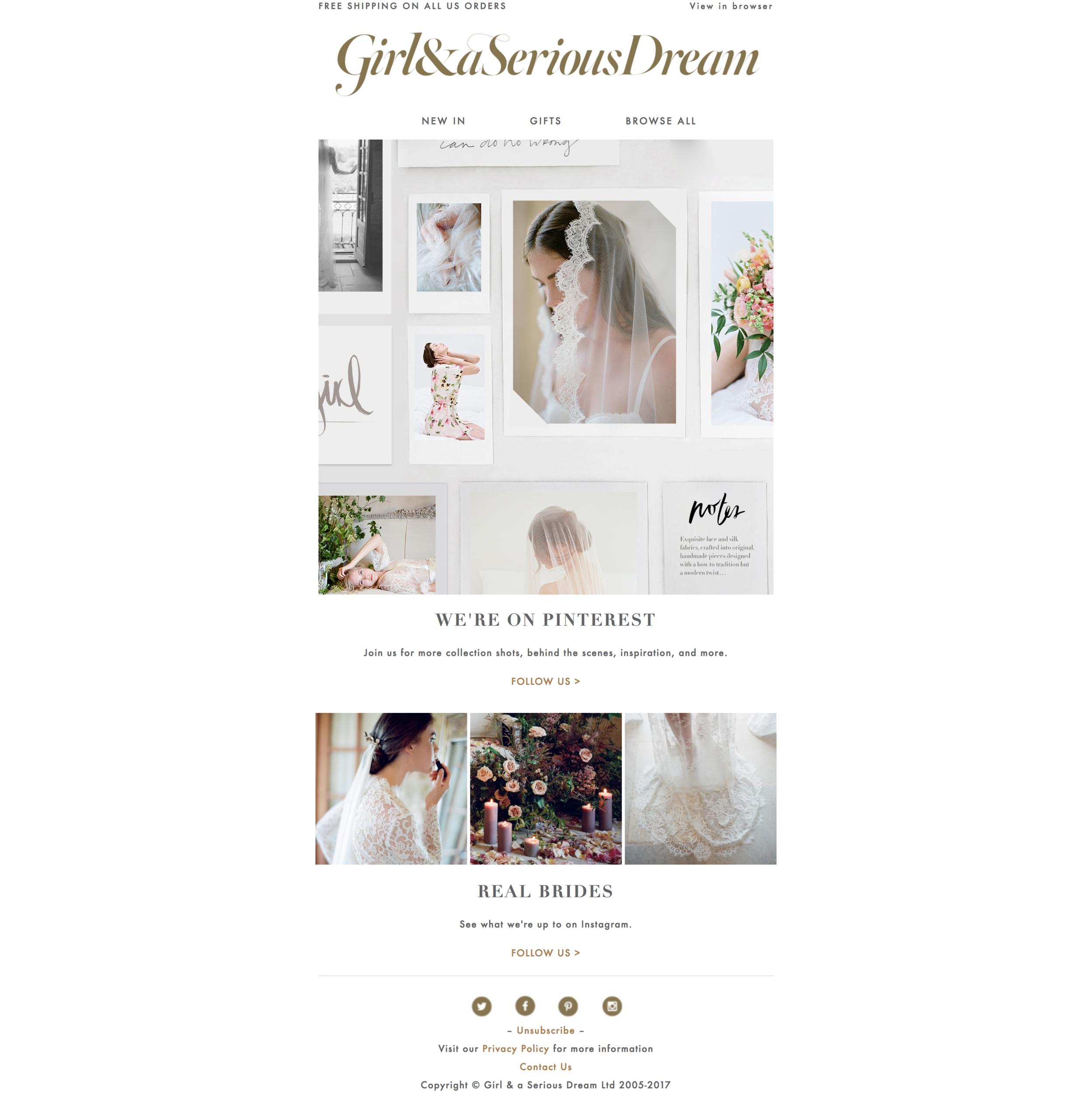 Pinterest promotion email design