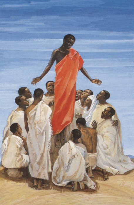 The Ascension of the Lord by the Jesus Mafa project of Cameroon