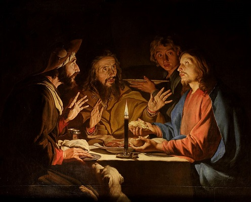 Image credit:  Supper at Emmaus  by Matthias Stom (at Museum of Grenoble),  via Wikimedia Commons