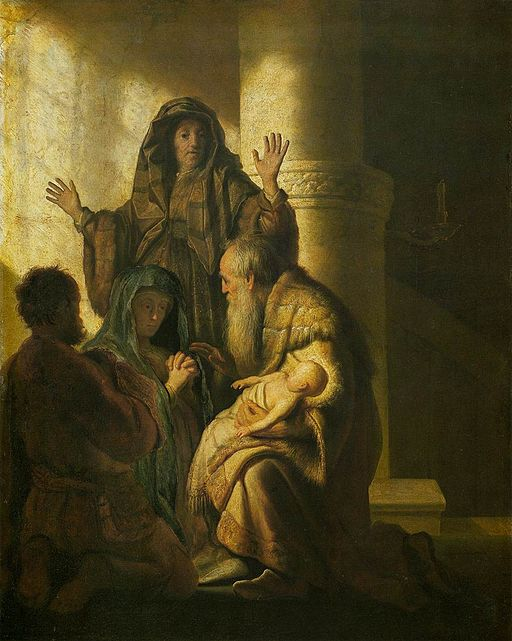 Simeon and Anna recognize Christ in Jesus