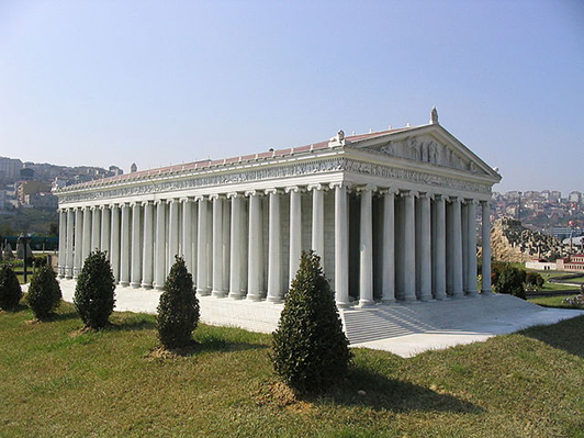 A reconsturction of the temple of Artemis