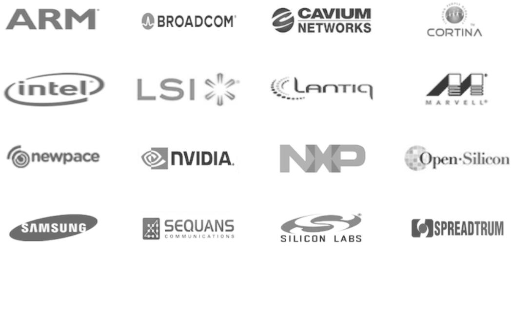 arm intel Nvidia Samsung sequans cavium cortina nxp spreadtrum
