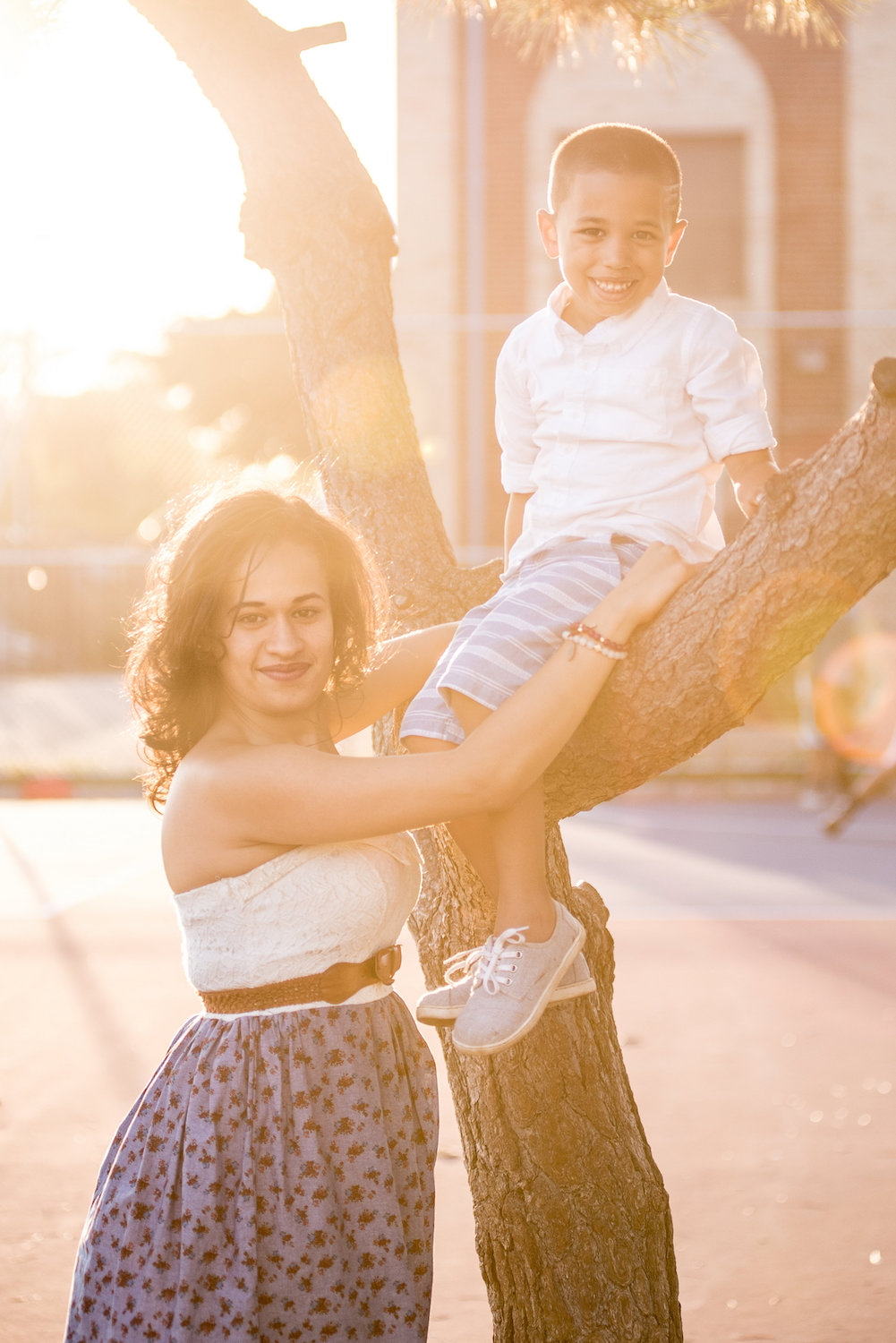 Golden hour family photography