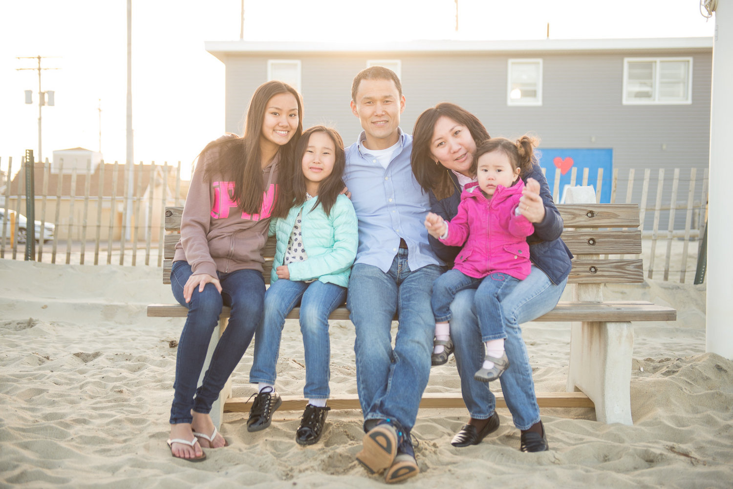 Family of three photography Manasquan Beach NJ New Jersey