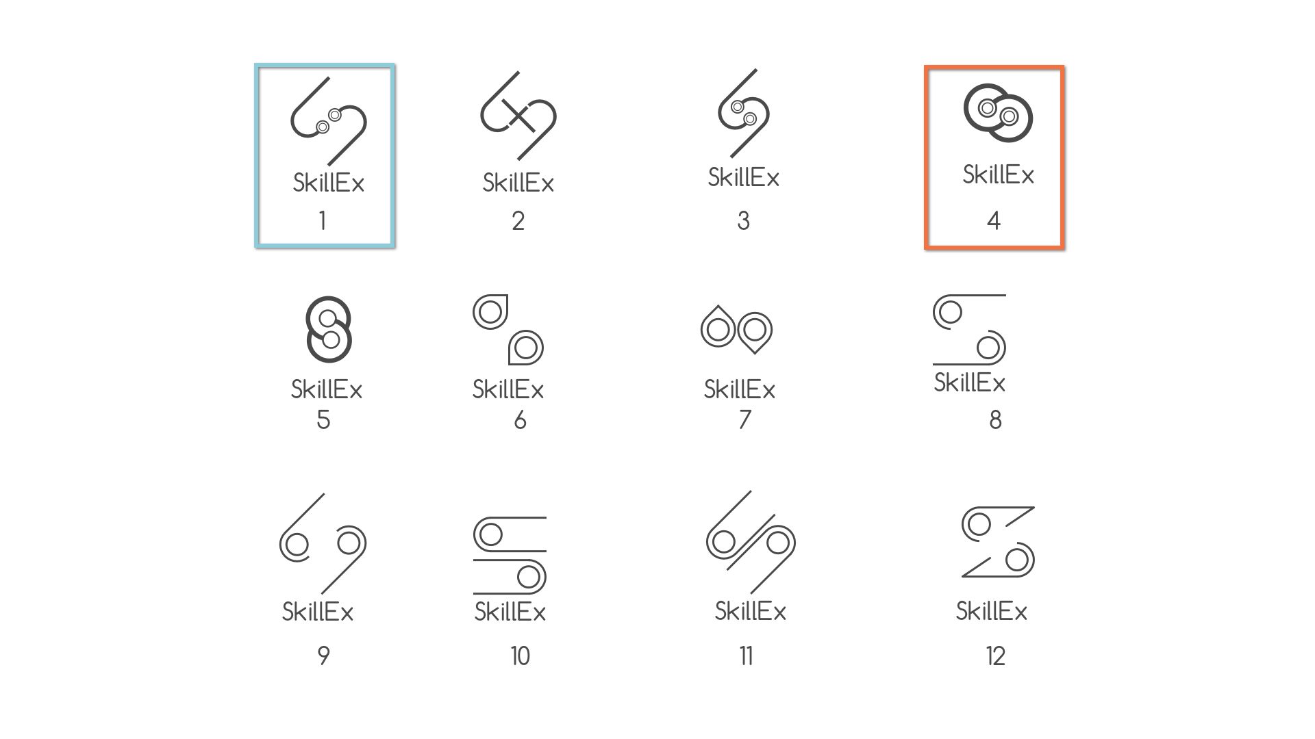 """Iterations of the """"S"""" logo showing an exchange."""