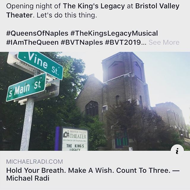 Today is the day! New blog post about it too! (link in bio) Let's do this thing 😁🤩👸🏻😍🙌🏻❤️ @bvtnaples . . . #QueensOfNaples #TheKingsLegacyMusical #IAmTheQueen #BVTNaples #BVT2019 #NewWorksInitiative #PremiereProduction #NaplesForTheWin #Writer #Composer #Actor #HenryVIII #AnneBoleyn #ElizabethI #Queens #TheGlamorousLife #TheGlamorousLifeBlog #OpeningNight #Theatre #MusicalTheatre #NewMusical #HereWeGo