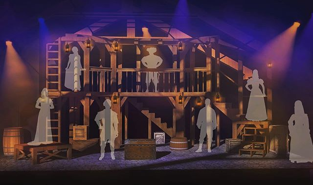 As we move into tech week, here's a little sneak peek of what's being built in the theater at @bvtnaples at this moment! (Set by Justin and Christopher Swader) . . . #QueensOfNaples #TheKingsLegacyMusical #IAmTheQueen #BVTNaples #BVT2019 #NaplesForTheWin #SetDesign #SetRendering #SwaderBrothers #GlobeTheatre #Elizabethan #HenryVIII #AnneBoleyn #SummerStock #ChangeOver #TechWeek