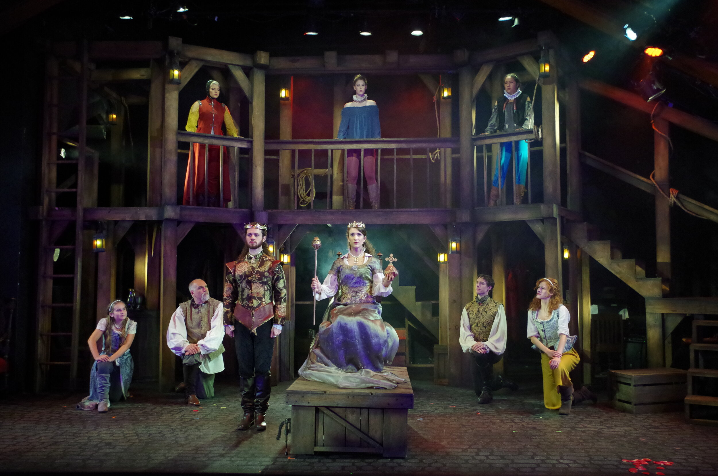 The cast of  The King's Legacy  at Bristol Valley Theater (Photo by Rich Miller)