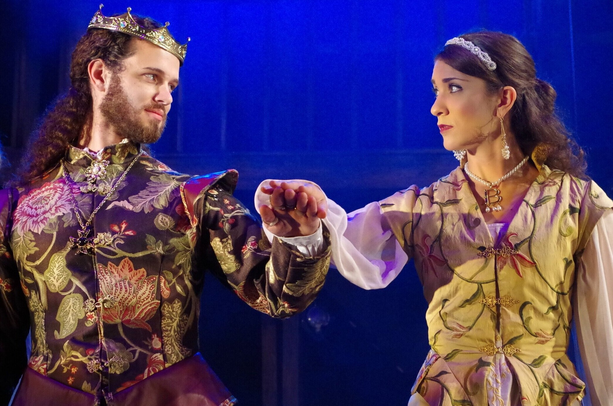 Jennifer Arfsten and Mike Kinzer in  The King's Legacy  at Bristol Valley Theater (Photo by Rich Miller)