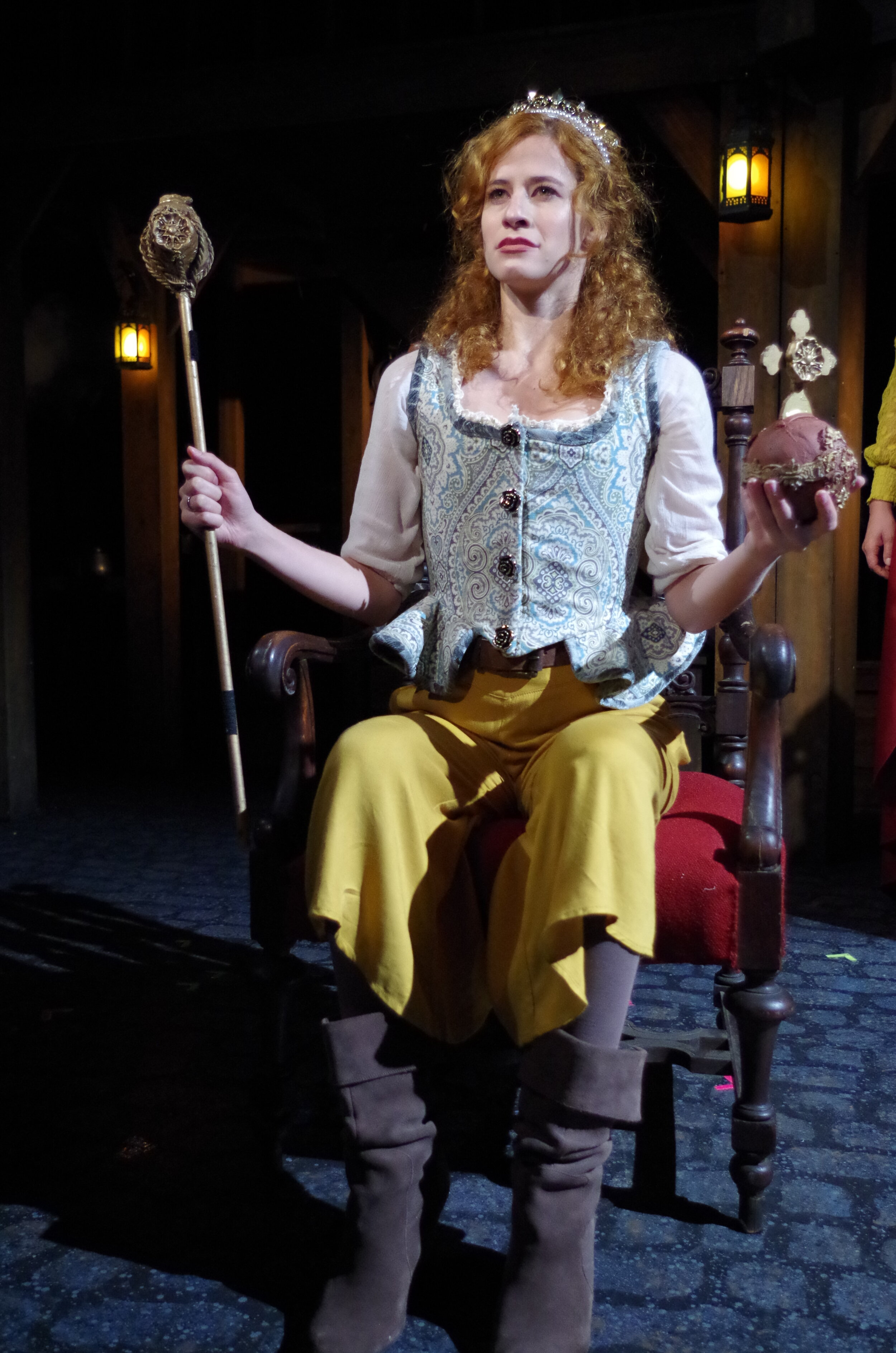 Hannah Karpenko in  The King's Legacy  at Bristol Valley Theater (Photo by Rich Miller)