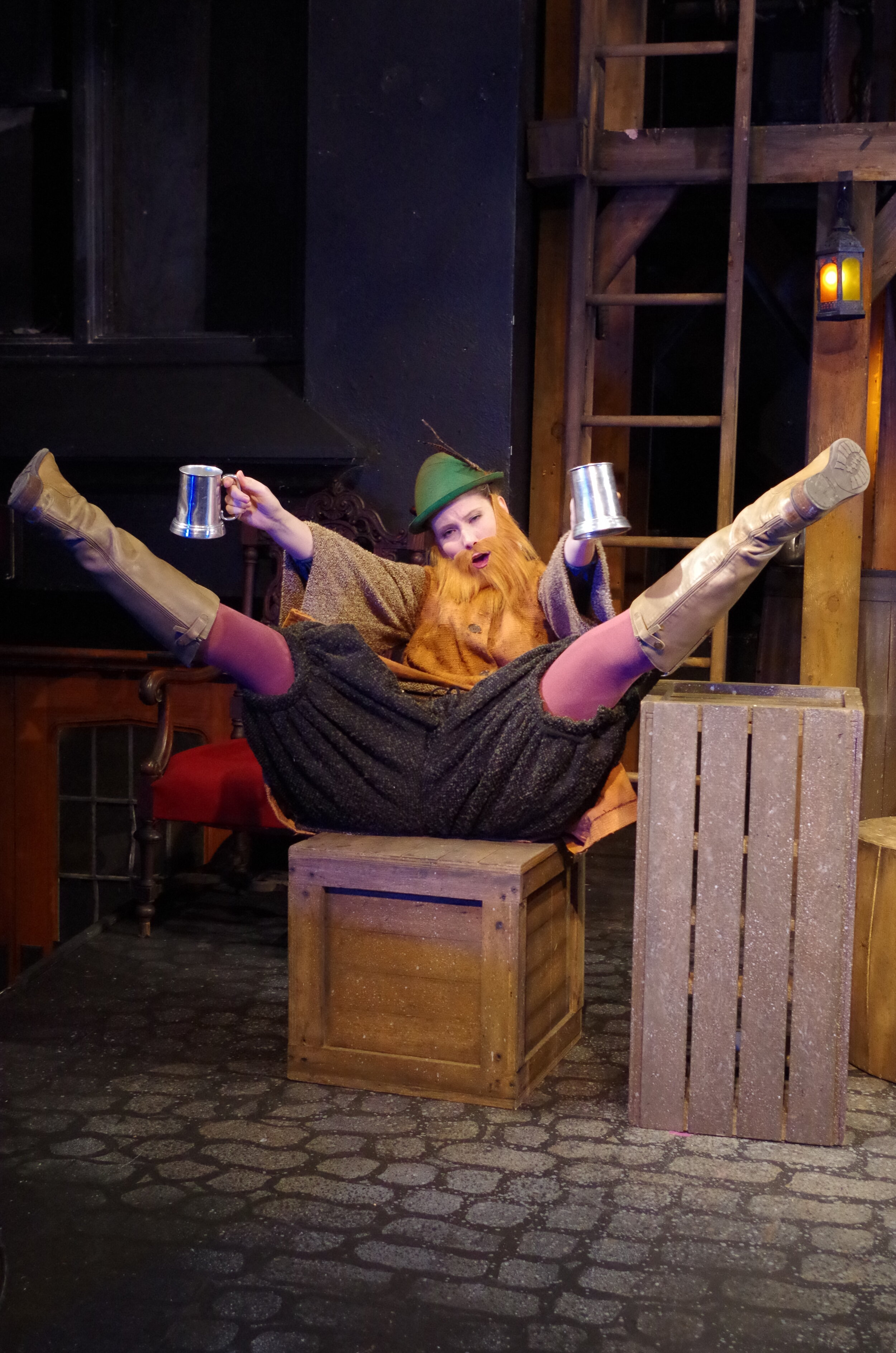Tess Marshall in  The King's Legacy  at Bristol Valley Theater (Photo by Rich Miller)