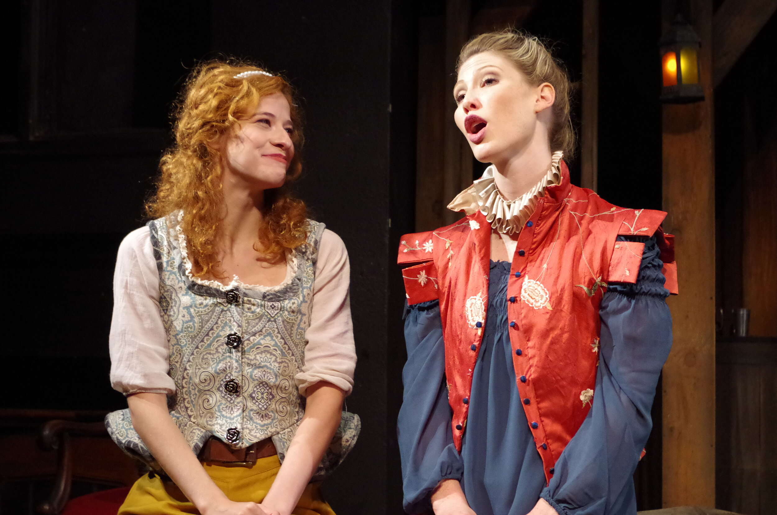 Hannah Karpenko and Tess Marshall in  The King's Legacy  at Bristol Valley Theater (Photo by Rich Miller)