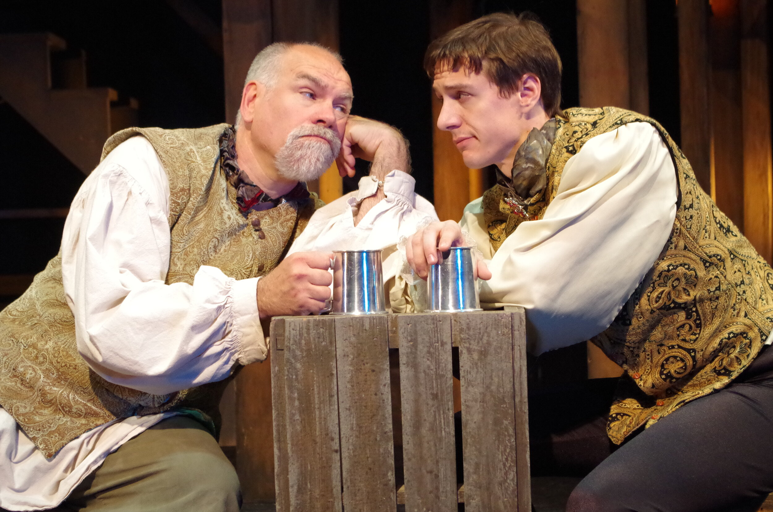 Mark Poppleton and Michael Radi in  The King's Legacy  at Bristol Valley Theater (Photo by Rich Miller)
