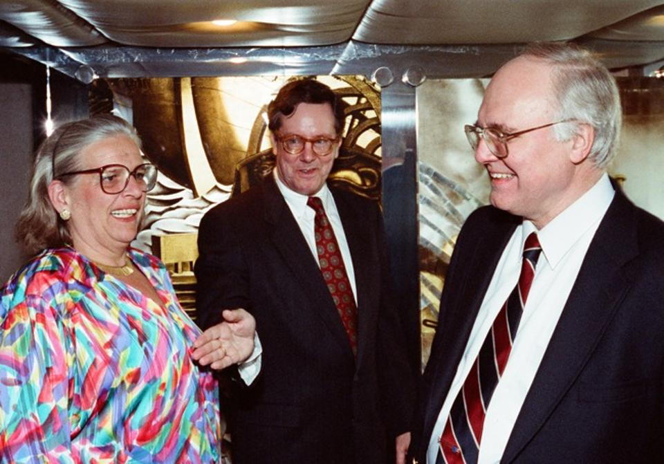 Glen Davis   SF and wife Sabina with Michael Novak in the early 1990s.