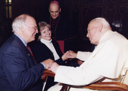 Michael and Karen with St. John Paul II