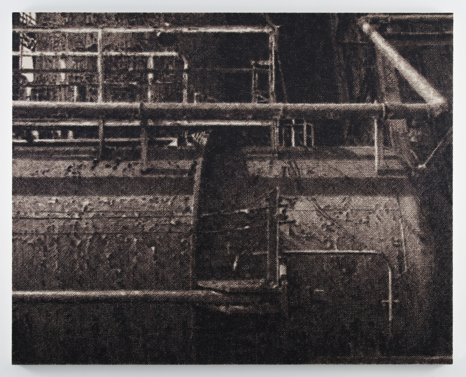 Wayne Gonzales,'Tank' 2016 - 2017,Acrylic on canvas,213.4 x 266.7cm,(84 x 105in) Copyright: Wayne Gonzales Courtesy: Wayne Gonzales and Stephen Friedman Gallery, London