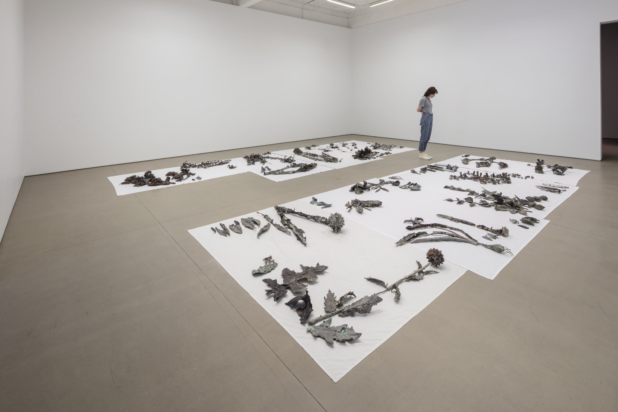 Abbas Akhavan, Study for a Monument (2013-16) Bronze on cotton sheets. Size Variable  Photo credit: Toni Hafkenscheid Courtesy of Mercer Union, Abraaj Group Art Prize and the Family Servais Collection