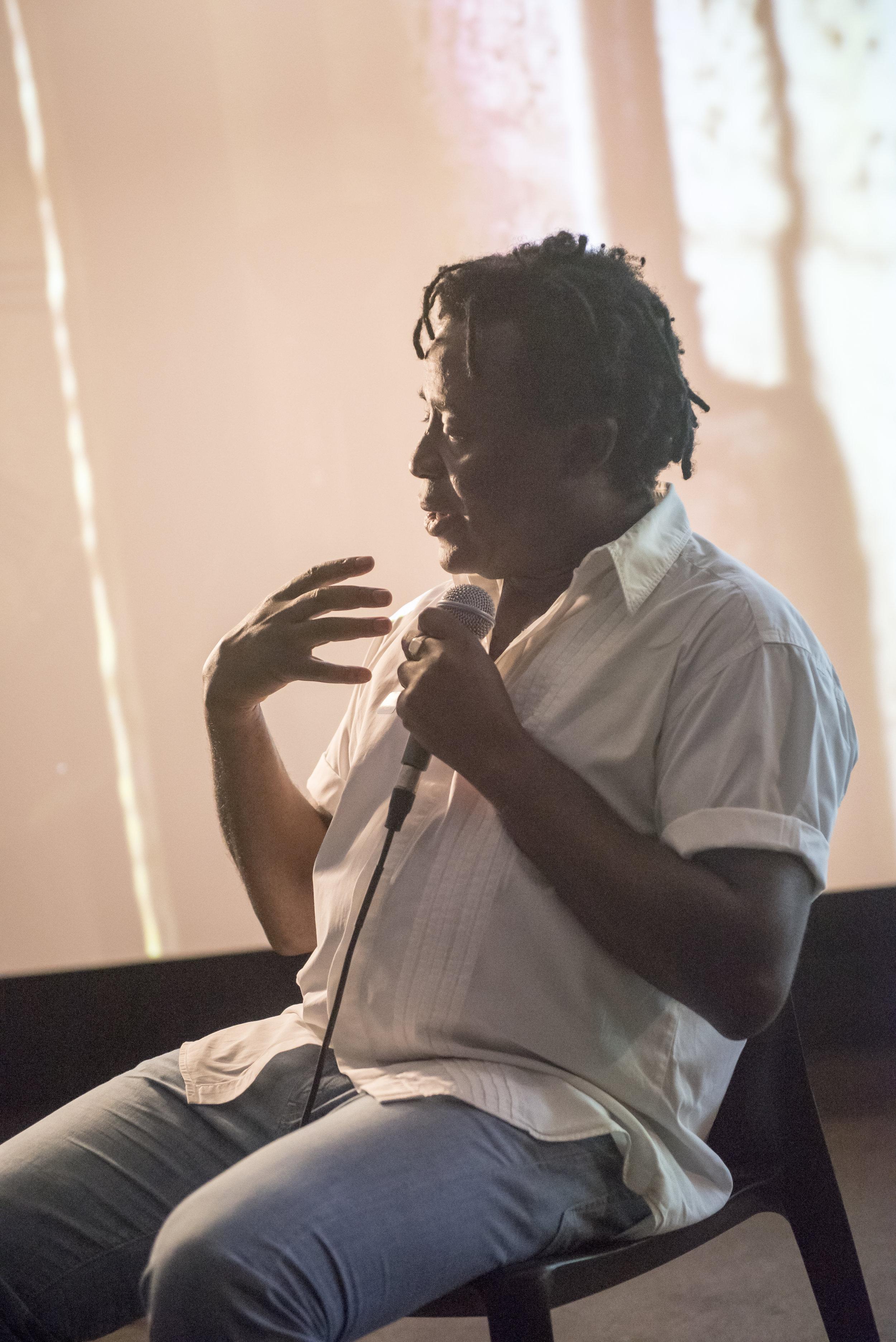 "Conversation with John Akomfrah, ""Precarity, 2017"""