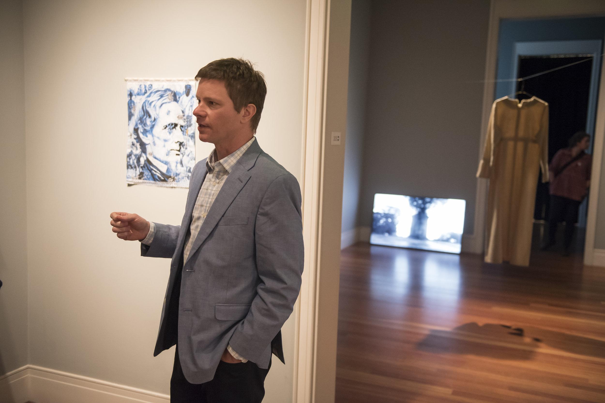 P.4 Artistic Director, Trevor Schoonmaker, Giving Tour at Ogden Museum of Southern Art