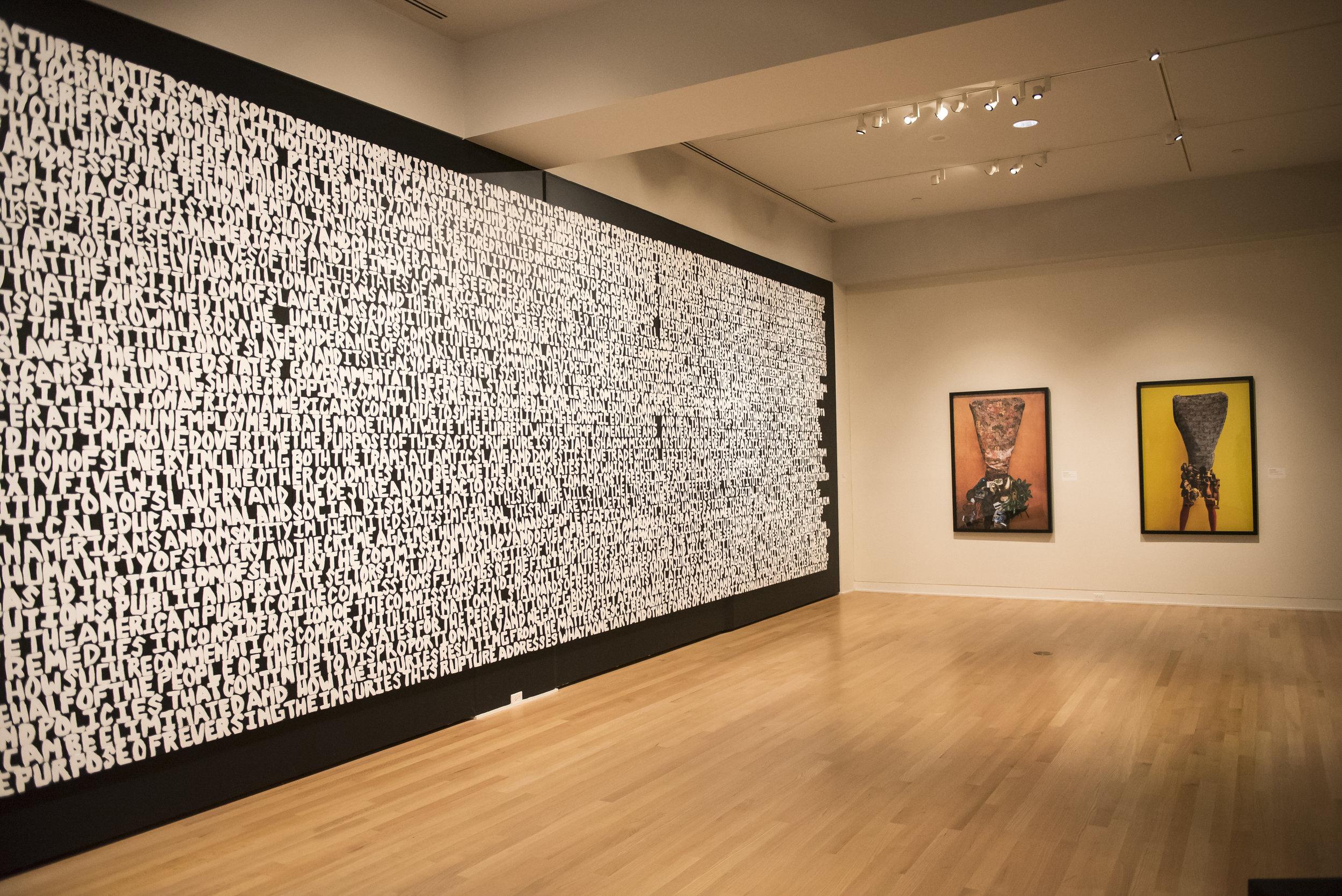Xaviera Simmons, Installation View at NOMA, 2017