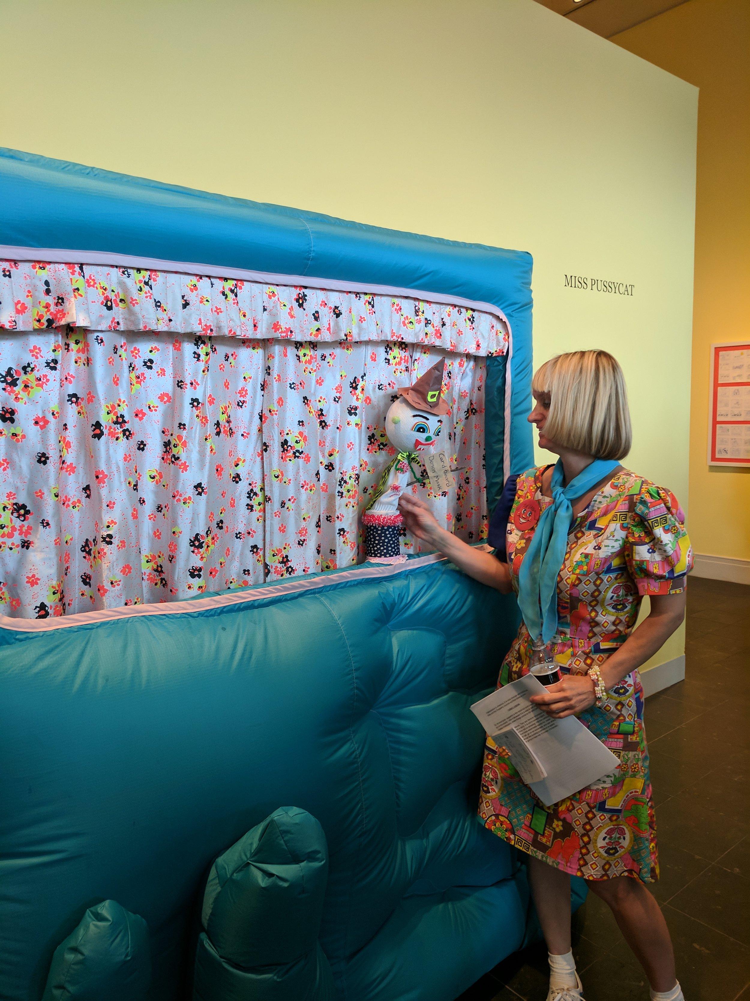 Miss Pussycat Giving Gallery Walkthrough at Ogden Museum of Southern Art