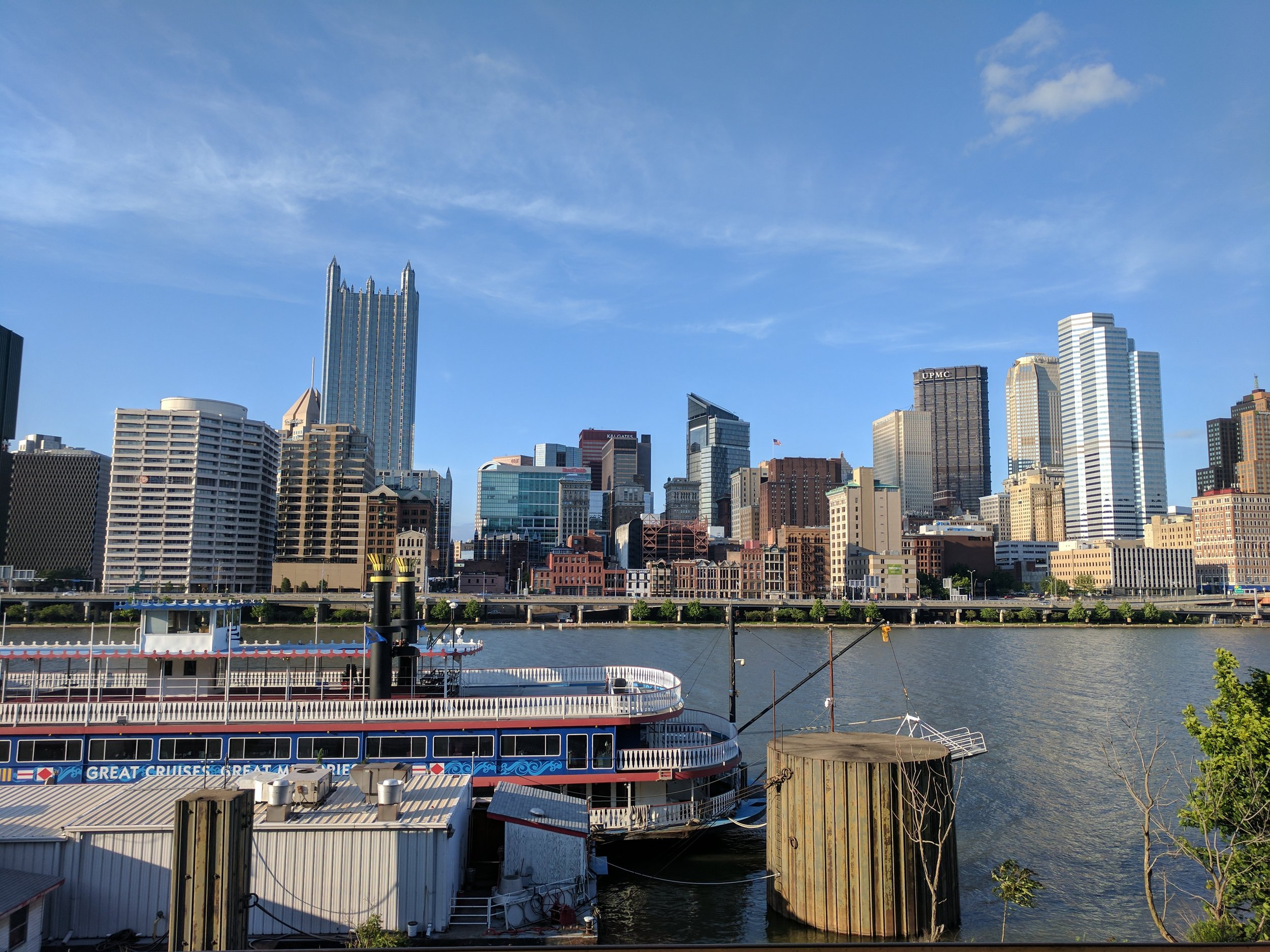 Looking North at the Pittsburgh skyline from Station Square.