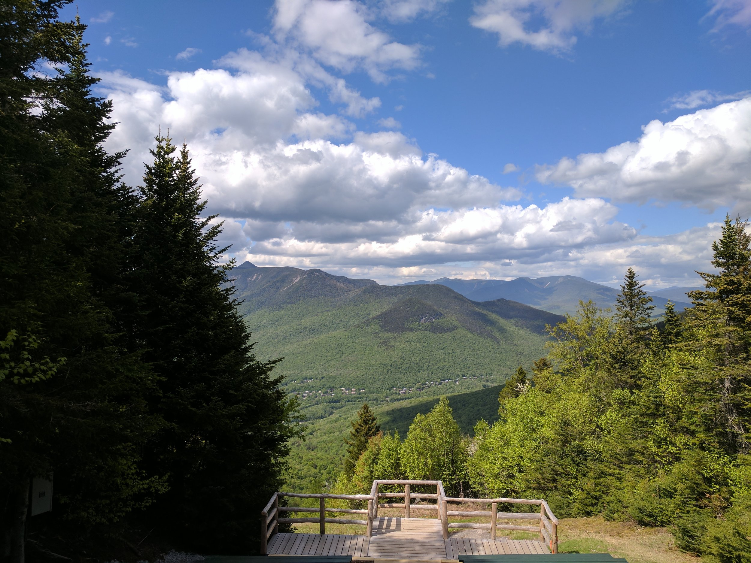 "The view from Loon Mountain where our friends said ""I do!"""
