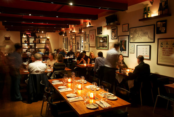The quaint dining room is perfect for couples or groups looking for an enjoyable night out, photo courtesy of thenewyorker.com