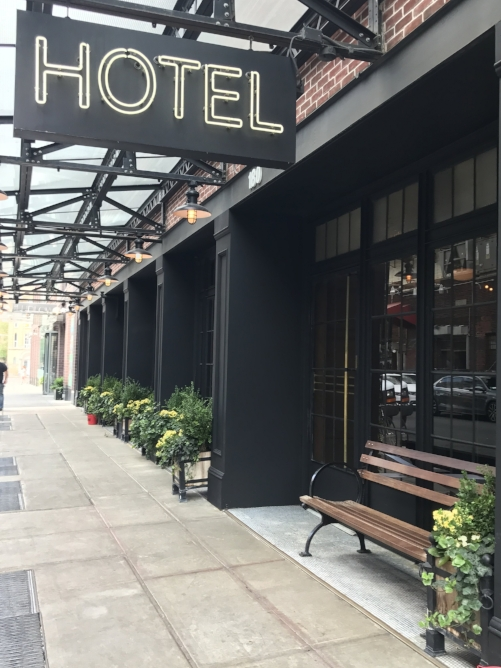 From the street, The Ludlow Hotel is easy to miss with its non-descript sign.