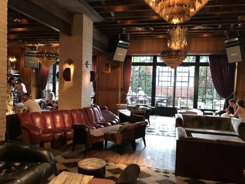 The beautiful lobby, lounge, bar, and patio area.