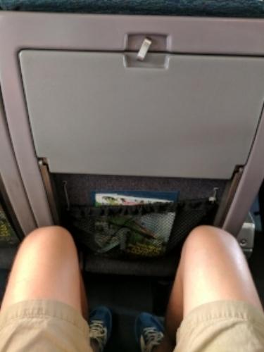 Definitely more leg room than Spirit or Frontier!