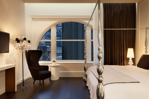 King room at Ames Boston Hotel. Image courtesy of Ames Boston Hotel.