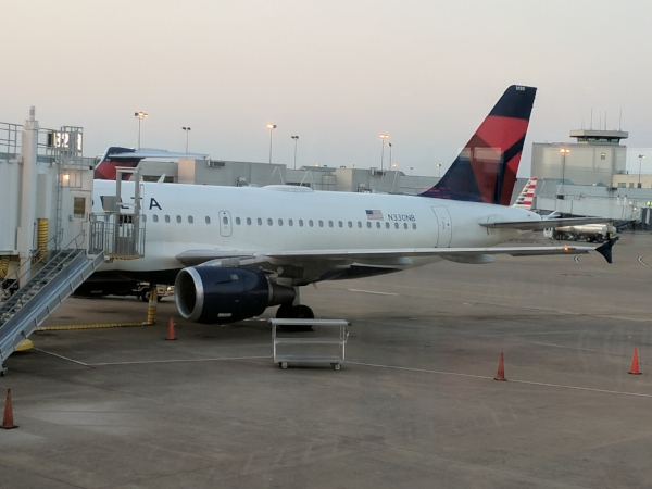 My Delta A319 parked at Nashville International Airport (BNA)