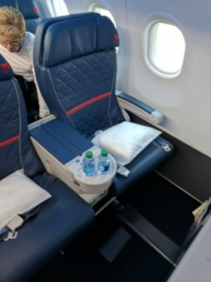 Delta's First Class seat on the refreshed A319.