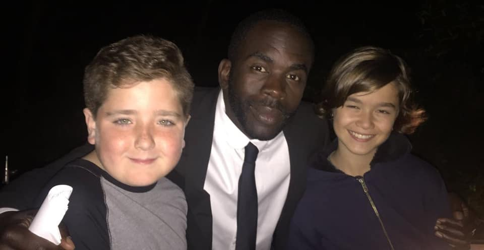 Actors Max Page, Jimmy Akingbola and Edouard Holdener