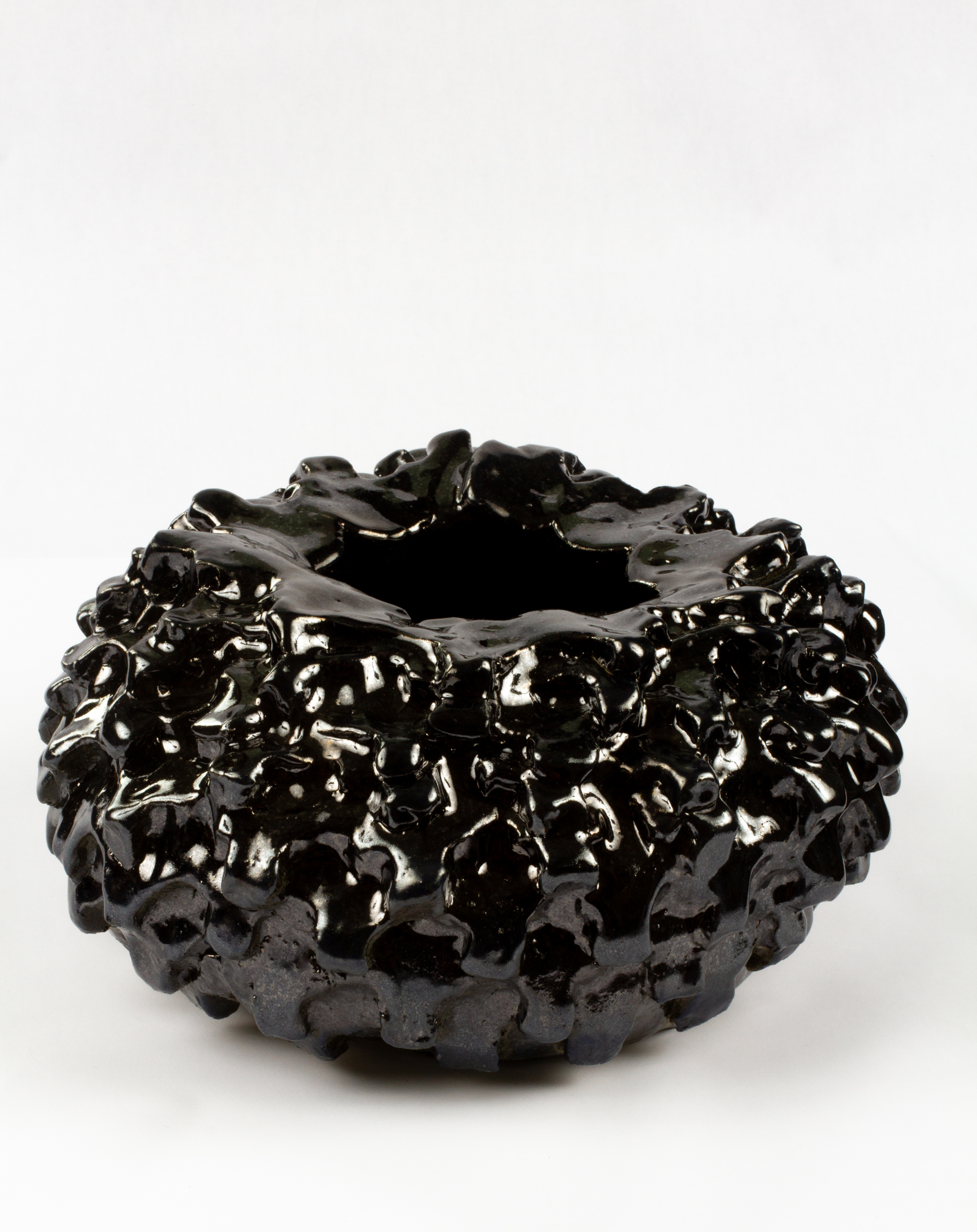 Murdered out Bowl (small tire), 2018  Stoneware  10 x 10 x 6 inches