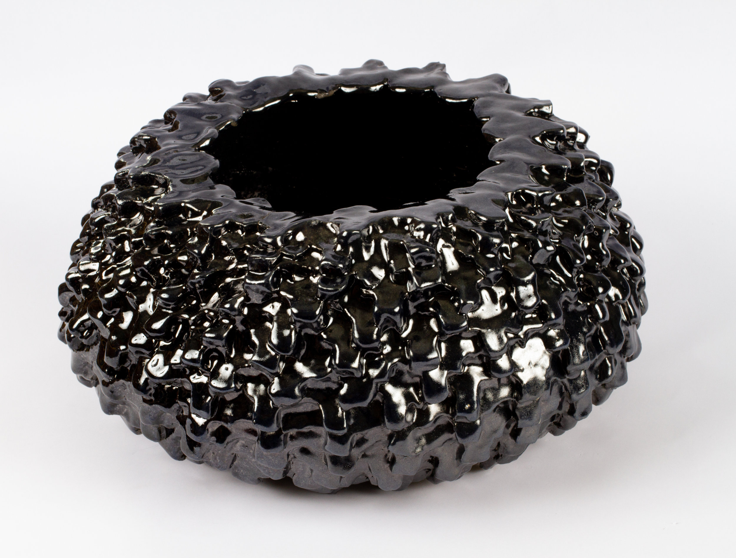 Murdered Out Tire #4 (Big Boy), 2018  stoneware