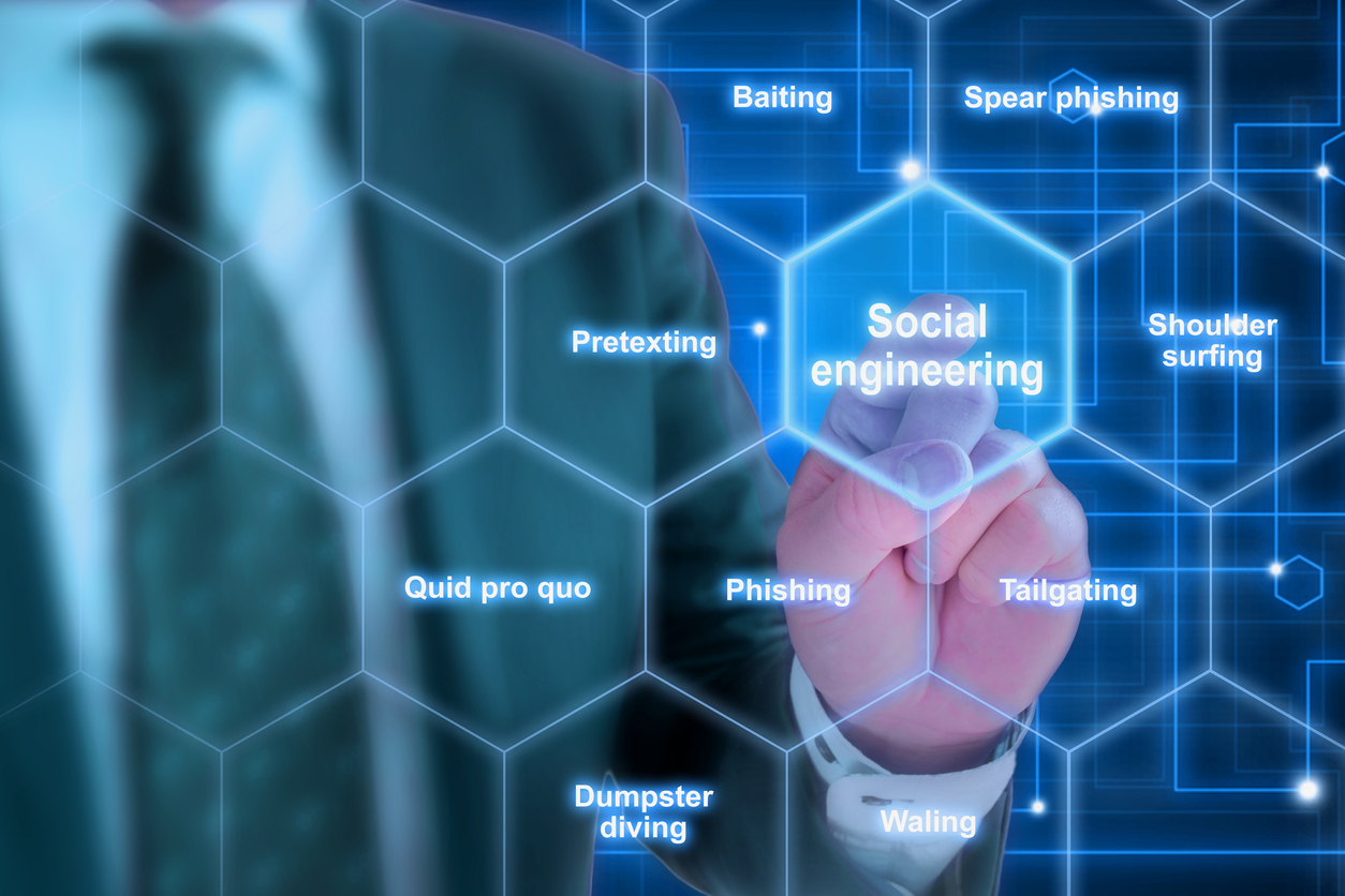 Social engineering - the use of expert manipulation via e-mail, text message, phone call or even in-person visits, is the most common and most effective technique used by cybercriminals around the world.