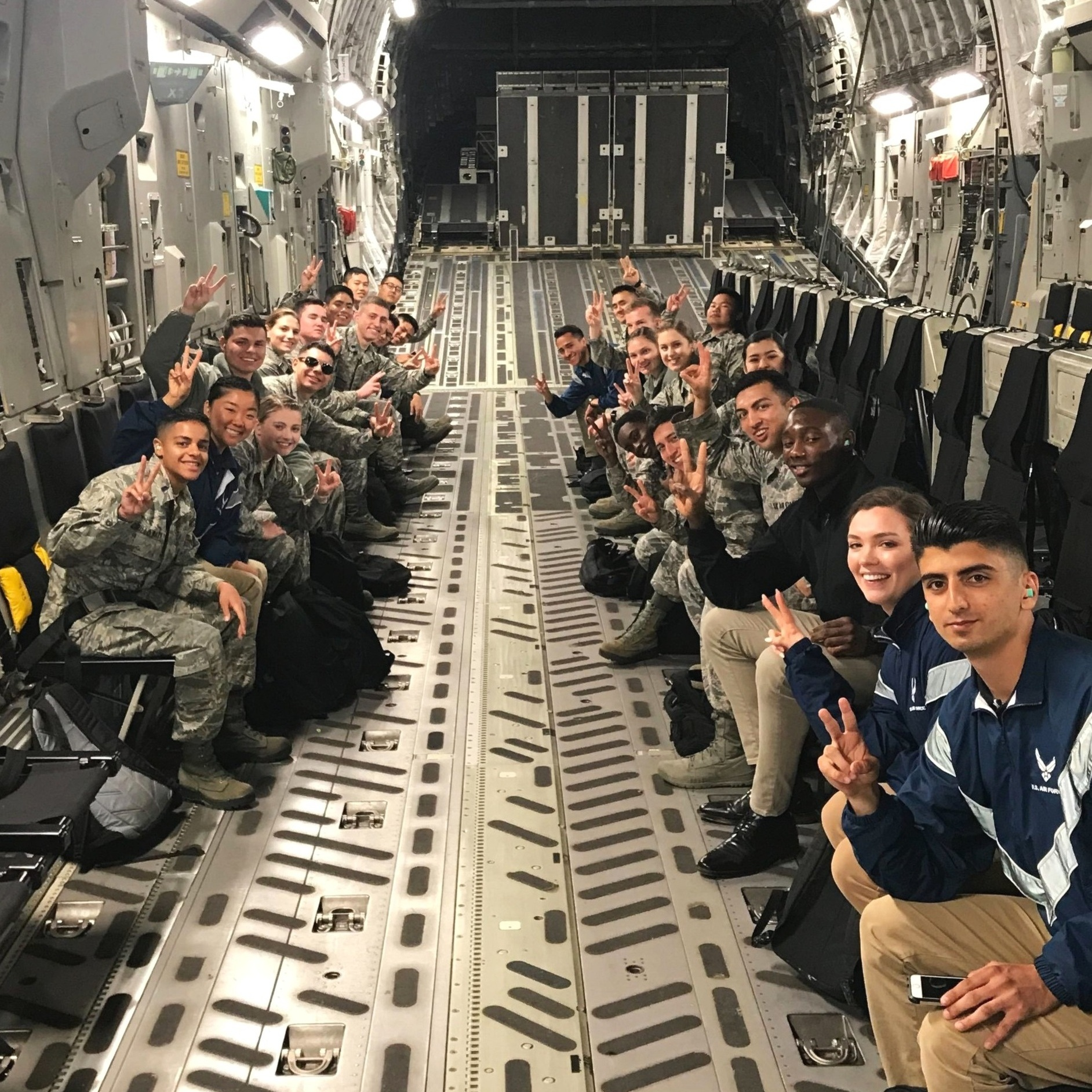 incentive flights - Throughout the year, cadets have the opportunity to fly in a variety of aircraft, from small two-seat aircraft such as the T-34 to heavy aircraft such as the C-17. Most flights are orchestrated via March ARB and are a fantastic introduction to flying in military aircraft, no experience necessary!