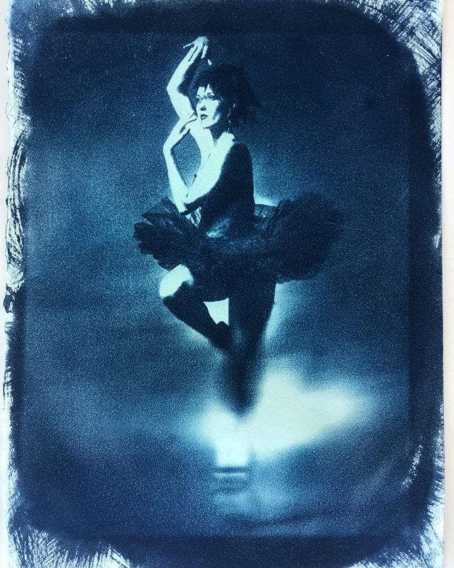 Messing around with an old image in the sun. #cyanotype #sonyimages #pictorico